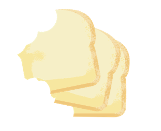 Céréales, grains, pains, pâtes, farine et sucre